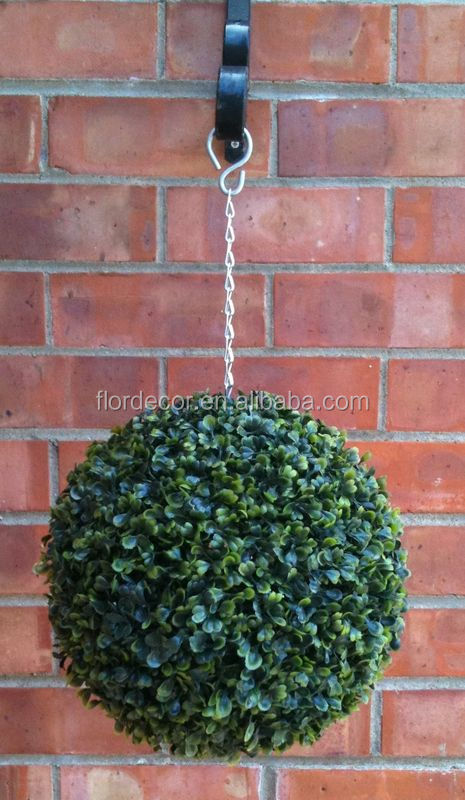 garden decorative green ball artificial privet grass hanging ball FD0012