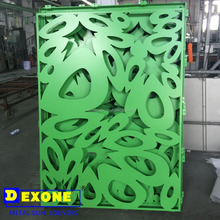 Green metal fence decorative laser cut panels screen