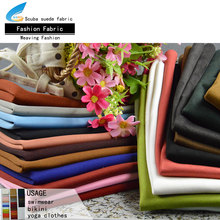 100 polyester faux scuba suede thick suede knit sofa fabric coat fabric