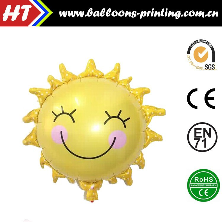 [HOT] Sun Flowers Smile Face Foil Balloons Decoration Baby Shower Party Helium Balloon