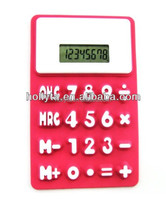 Big size desktop mini calculator silicone calculator