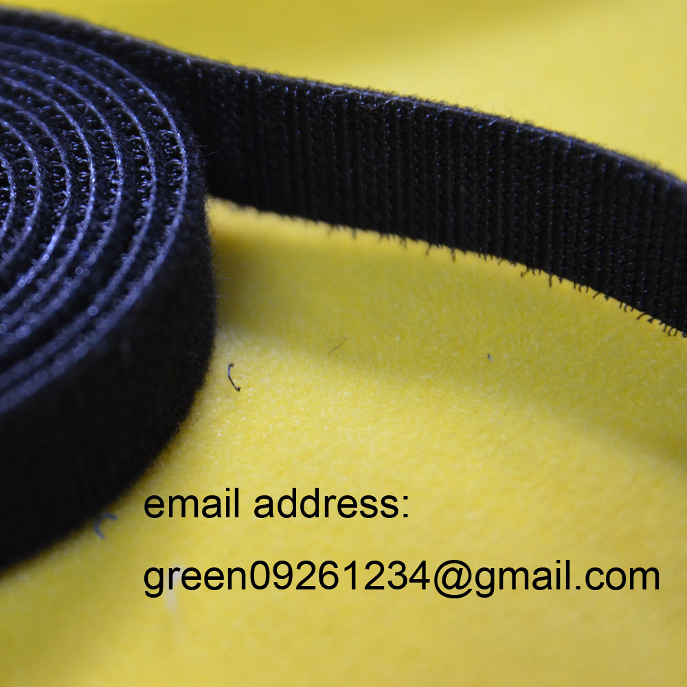 100%nylon black high quality back to back hook and loop tape