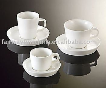 Cost-effective cheap factory wholesale cup and saucer in porcelain ware