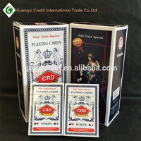 300 gsm art paper with linen finish playing cards, high-end double packing playing cards