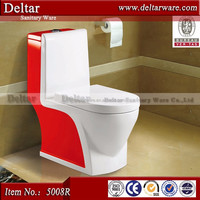 golden dragon two color toilet, chaozhou manufactuer toilet,red and white color wc