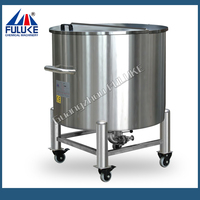 2015 FLK stainless steel ethanol storage tanks with rollers