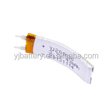 thin and abnormal shape rechargeable battery of 30mAh ultra thin 3.7V lipo battery