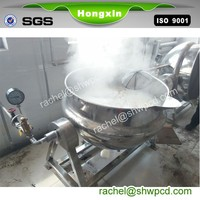 500 liter steam jam jacketed cooking kettle with agitator