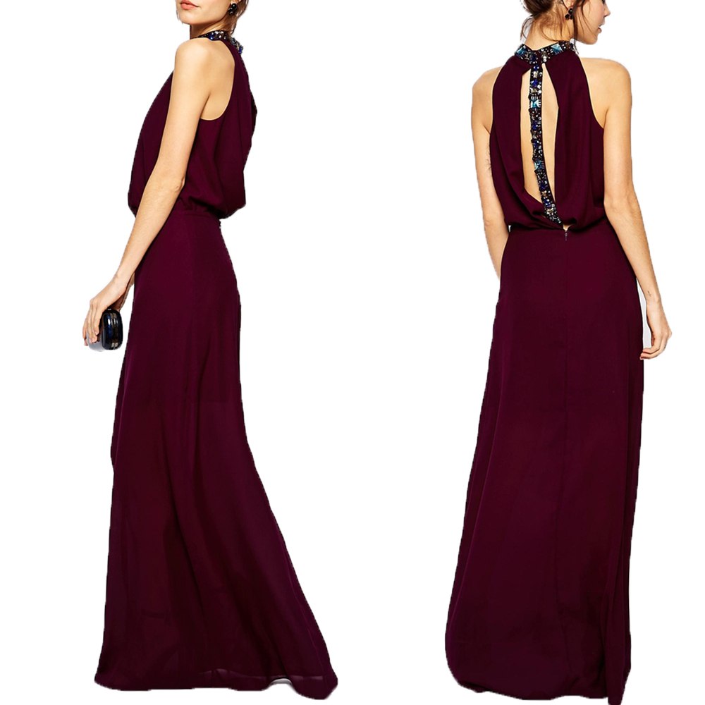 New arrival grace luxury maxi crystal modena evening dress