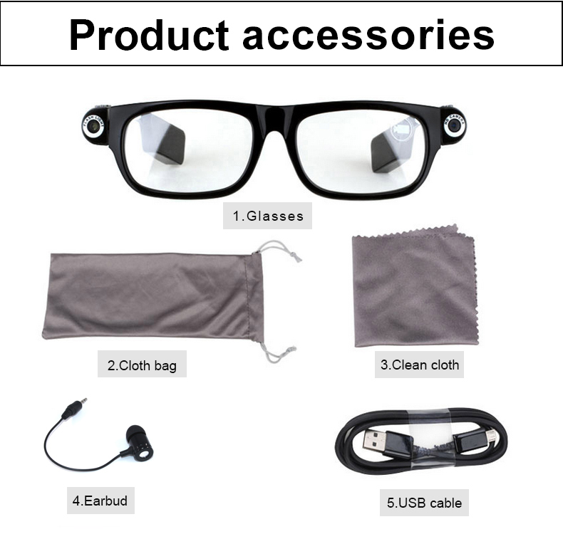 Best Video Camera Glasses HD with Bluetooth Headset Calls