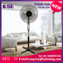 Oscillating Stand Fan energy saving double ring cross base