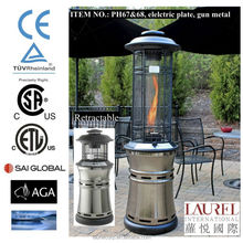 Retractable design outdoor garden flame LPG gas patio heater