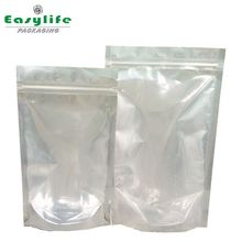 Round Bottom Stand up Ziplock Pouch/Brown Kraft Paper Bag with Clear Window and Zipper for food/nuts packaging