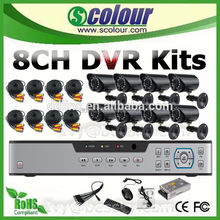 8CH cctv camera kits car security camera built in mic speaker ip camera with h.264 pan tilt(BE-9008H8IRA Series)
