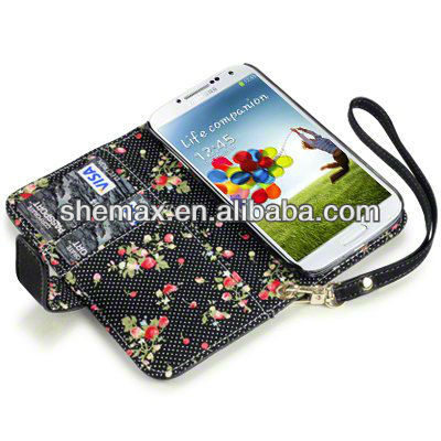 Premium PU Leather Floral Interior Wallet Case For Samsung Galaxy Grand Duos i9082