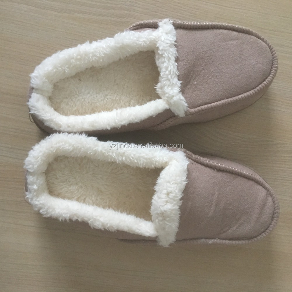Men's plush slippers in winter