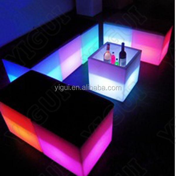 LED Modern Plastic Furniture Set Chairs/ Led U003cstrongu003elightu003c/strongu003e