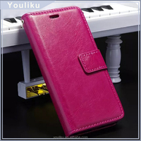 flip leather mobile case cover for oppo r2001 Magnet Wallet flip Cover PU Leather case for lenovo phab plus