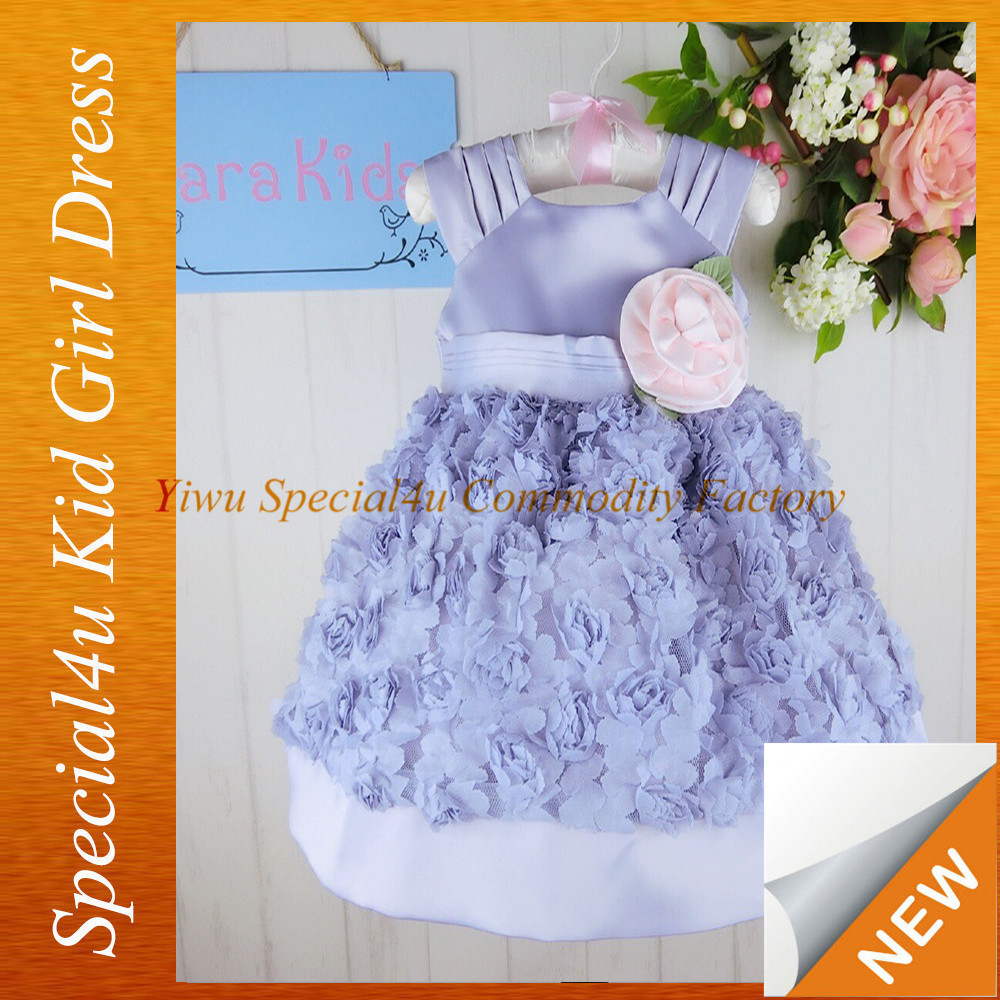 Kids evening gowns beautiful for kids purple and pink flower ball gown for kids 2015 LYD-208