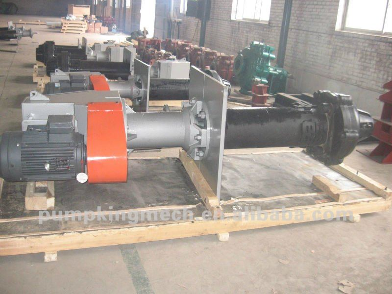 centrifugal vertical slurry pumps driven by motor