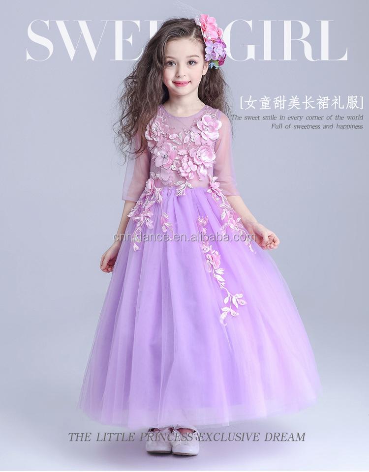 Venta al por mayor modelos de niñas en vestidos-Compre online los ...