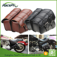 Motorcycle PU Leather Side Saddle Bag
