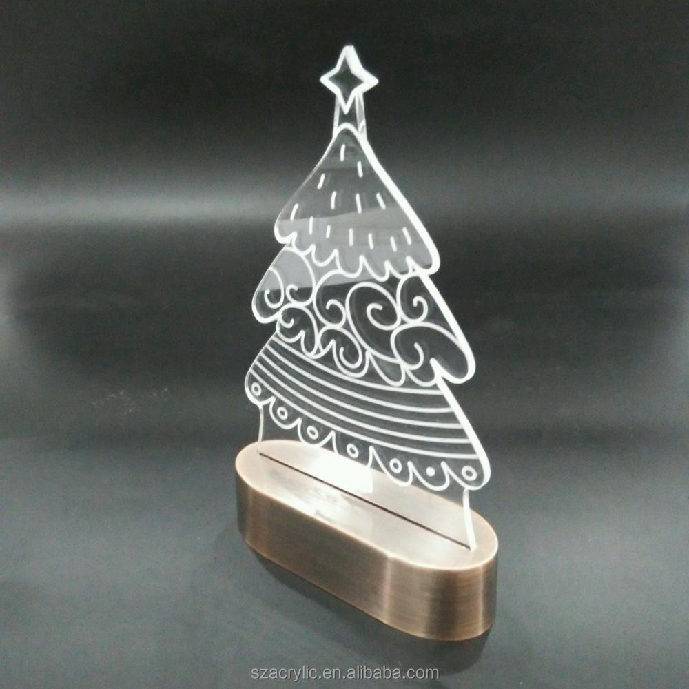 Acrylic Christmas tree 3D LED light acrylic Christmas decoration
