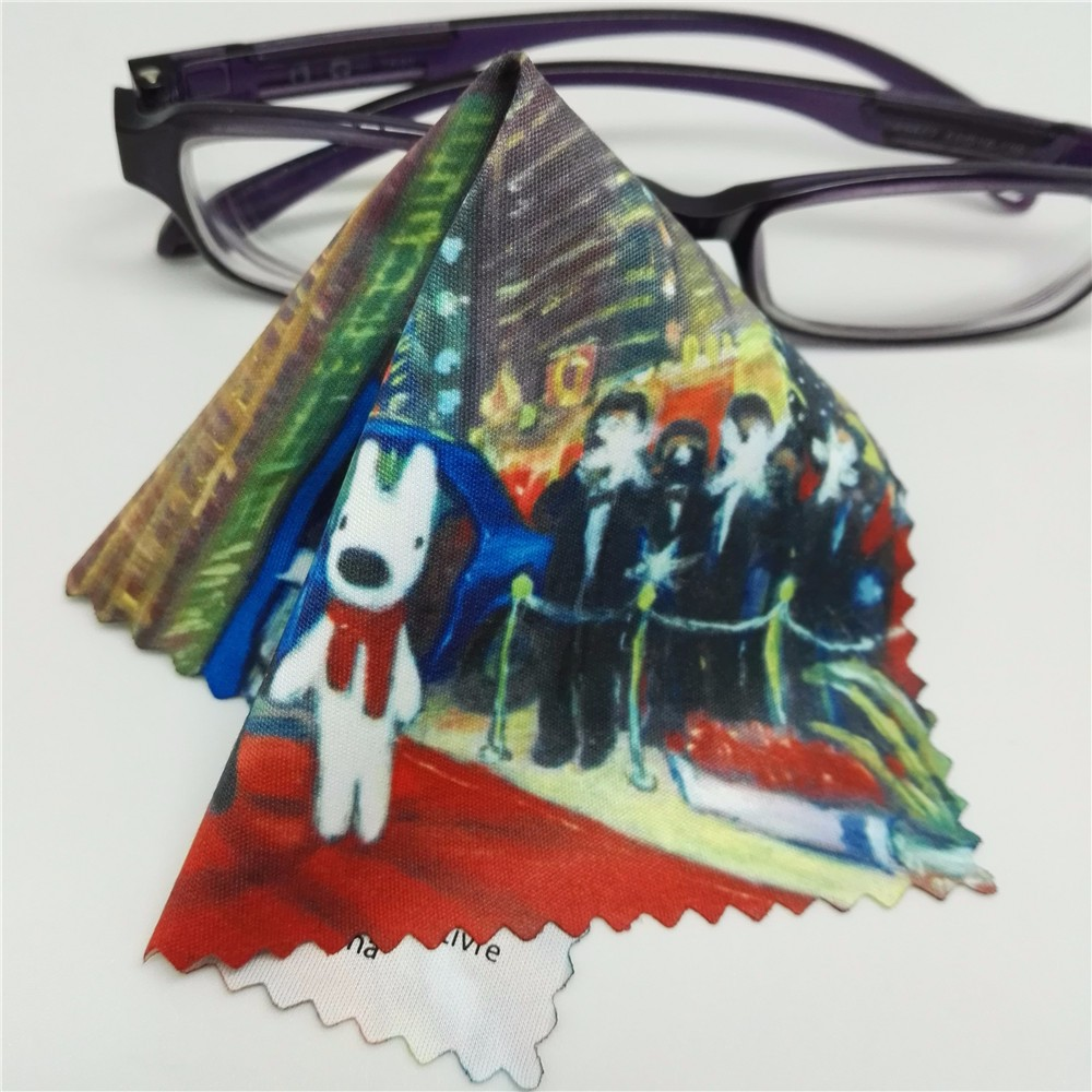 digital printing microfiber lens cleaners for eyeglasses