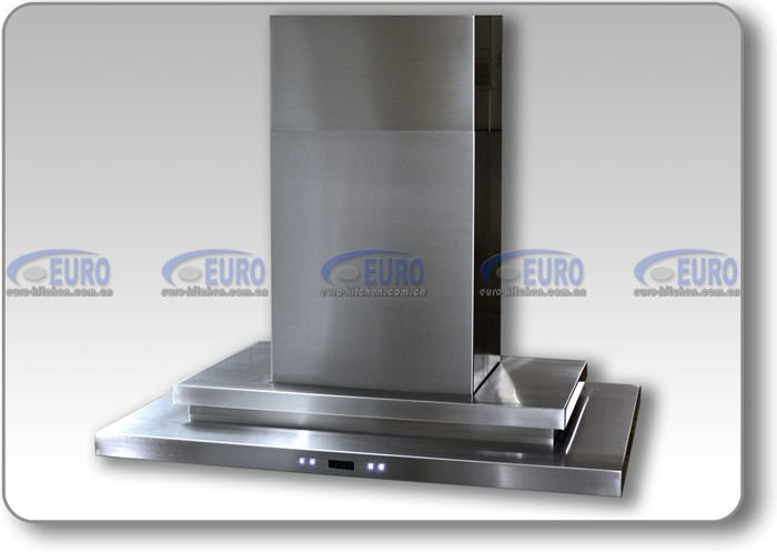 Island chimney stainless steel cooker hood