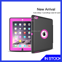 Triple protective for ipad air mobile phone shockproof wholesale PC TPU case for iPad