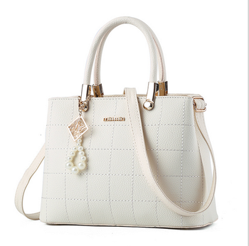 fashion waterproof PU women ladies white shoulder bag