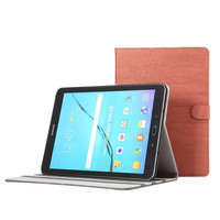 Retro Style Wood Pattern PU Leather Ultra Thin Flip Stand Case For Samsung Tab S2