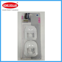 2PC Decorative Utility Strong Plastic Adhesive Magic Wall Hooks