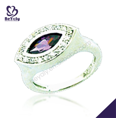 Ingenious purple stone envy eye wedding rings