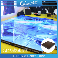 interactive led floor led disco lights floor for car exhibition with high quanlity popular in 2016