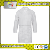 high quality food industry custom white polyester dust coat