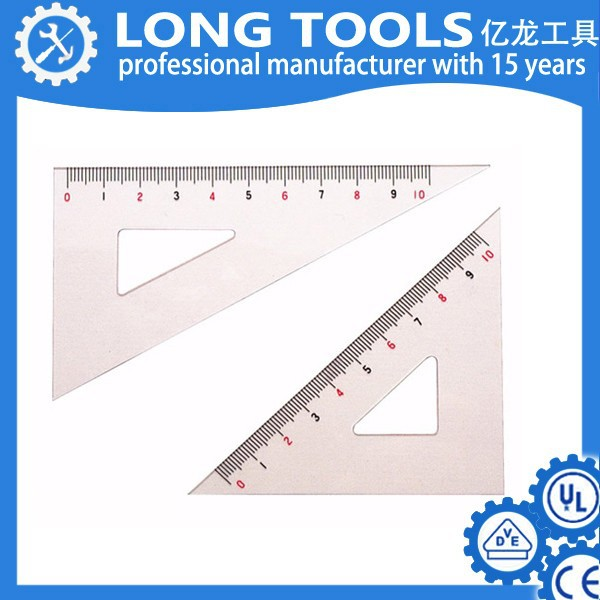 High quality 45 degree triangular scale making plastic ruler