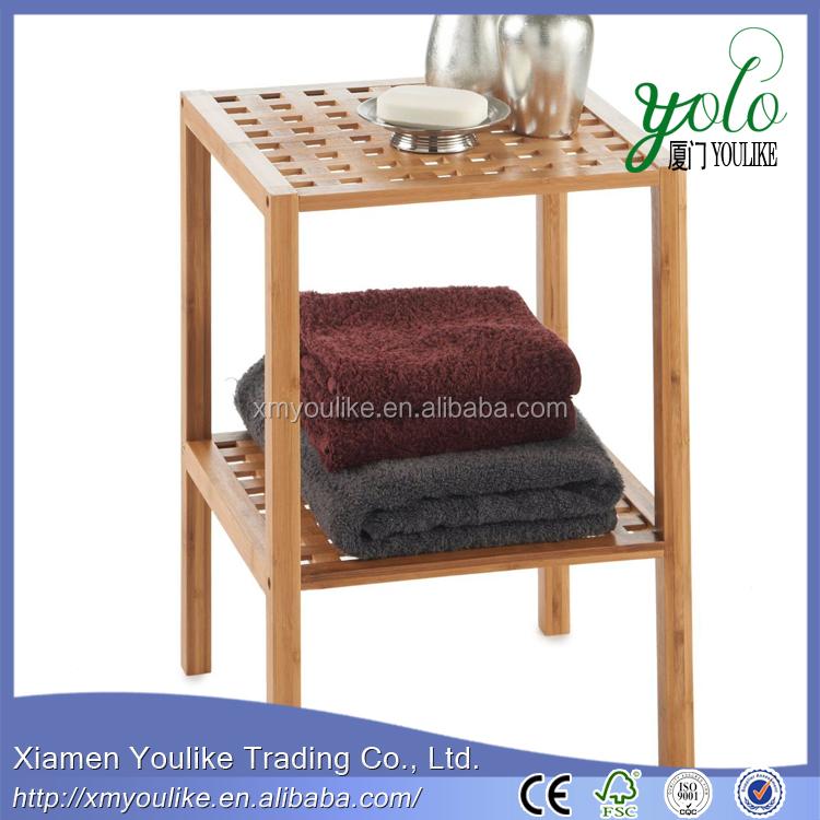 Luxe Badkamerspecialist ~ Hoge Kwaliteit 2 Tier Bamboe Badkamer Plank met badhanddoek rack China