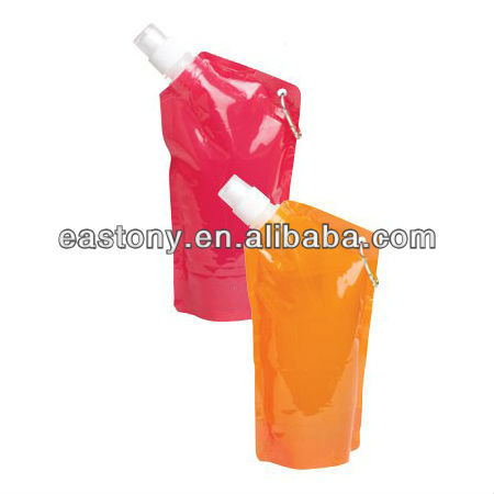 Reusable Plastic Outdoor Traveling Camping Portable Collapsible Water Bottle