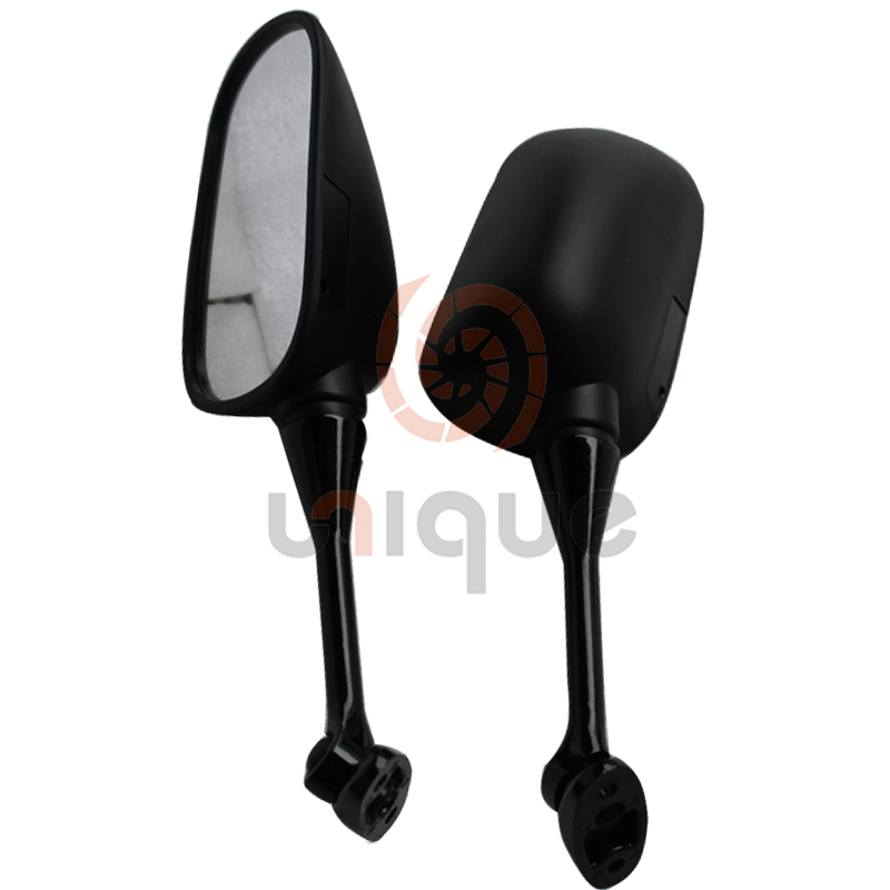 integrated Jet Black Racing Mirrors for 1999-2006 Honda CBR 600 F4 F4i / RC51 / RVT 1000