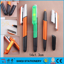 4 in 1 functional memo pad highlighter ball pen with stylus tip