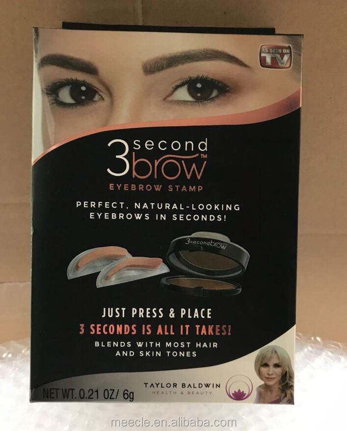 As Seen On TV 3 Second Waterproof Brow Eyebrow Stamp Powder for Makeup Perfect Natural 3 Second Brow Eyebrow Stamp