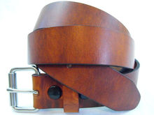 Men's 1 1/2 Rustic Hot Dipped Tan Harness famous brand leather belts for men