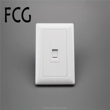 Manufacturer Luxury White pc switch home use tel and computer wall socket and switch