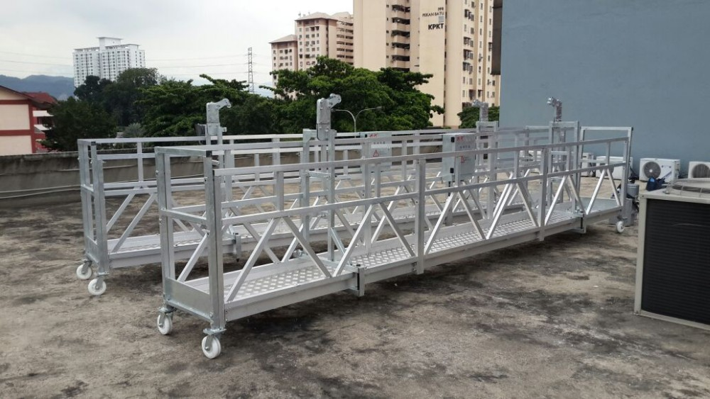 ZLP630 suspended access cradle / construction swing stage platform /building gondola lifting