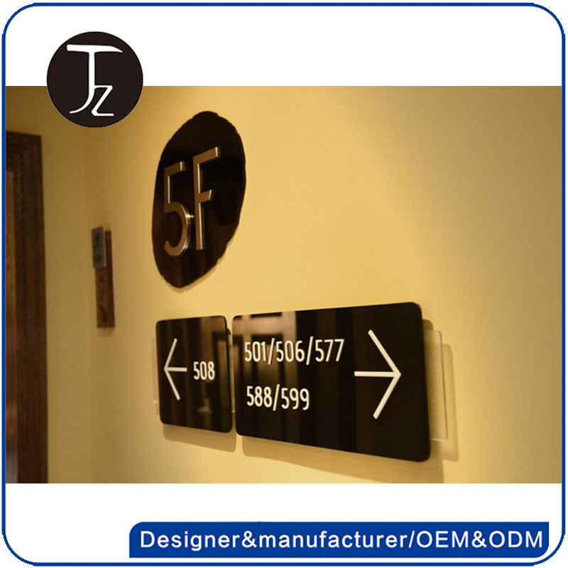 Casting Craftsman Factory customized acrylic/Stainless steel hotel room number plate