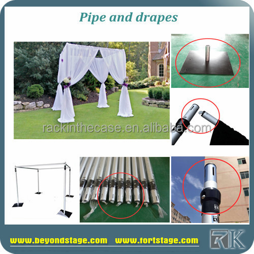 RK wedding arches for stage/pipe and drape wedding backdrop/ceiling drapery