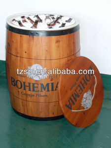 wooden barrel cooler