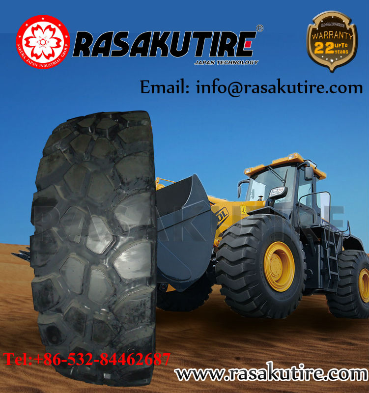 rasakutire japan technology top quality 26.5-25 otr tire otr tires repair