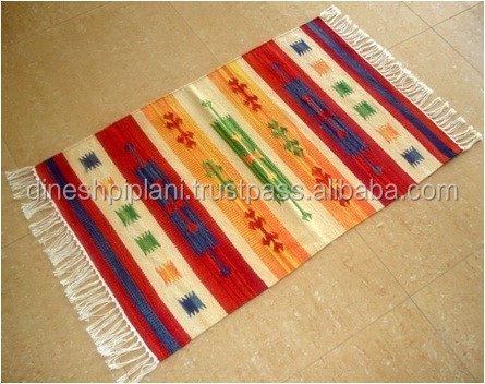 wholesale low price cotton ethnic kilim rug manufacturer